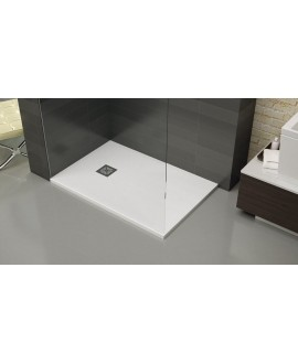Receveur de douche extra plat liscio blanc avec bonde verticale