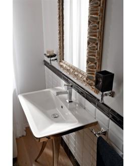 Vasque en céramique scabutterfly L:70.5cm P:46.5cm H:15cm