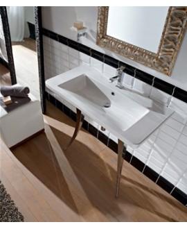 Vasque en céramique scabutterfly L:91cm P:46.5cm H:15cm
