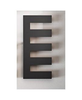 Sèche-serviette radiateur électrique design salle de bain Antpetine gauche noir mat 122.5x55cm