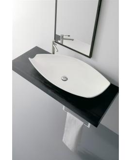 Vasque kong blanc brillant à poser 109x42x16cm