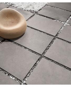 carrelage extérieur anti-dérapant forte épaisseur 90x60x2cm, R11 A+B+C, imitation pierre santastone gris