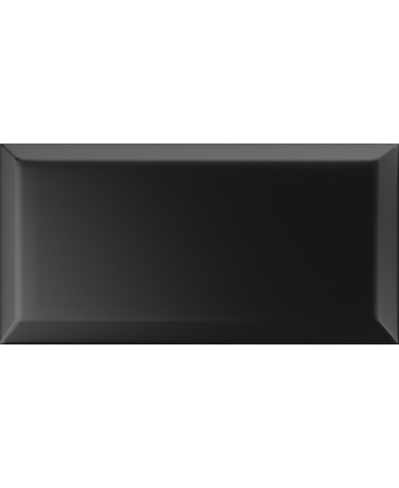 carrelage bisauté mat nero 10X20 cm