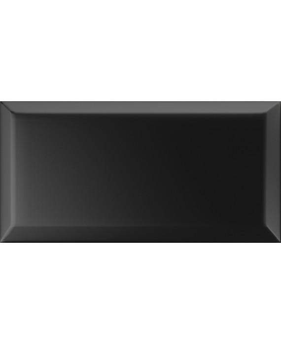 carrelage bisauté métro mat noir 10X20 cm