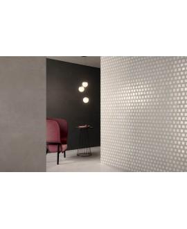Carrelage imitation béton ou résine mat, 90x90cm rectifié, Santaset perle au sol