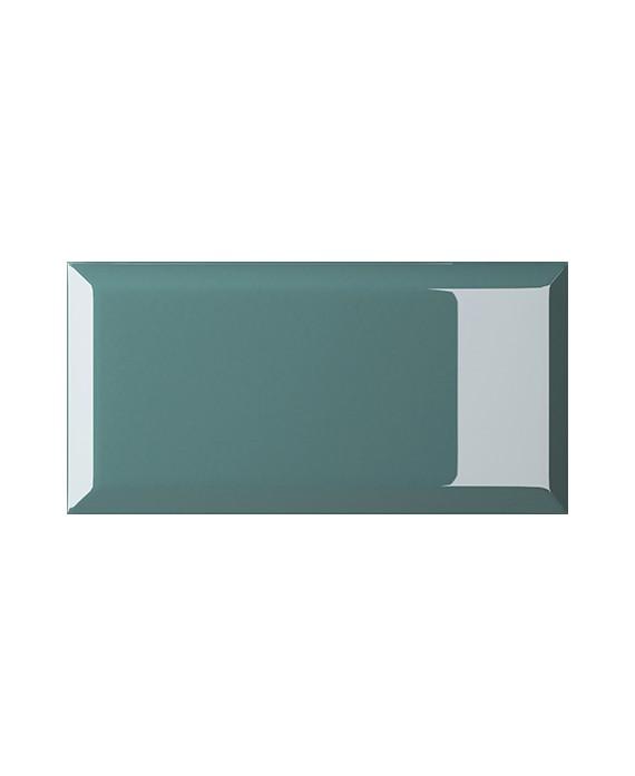 carrelage bisauté brillant turchese 10X20 cm
