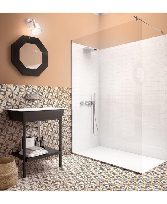 Carrelage patchwork 01 color imitation carreau ciment 20x20cm rectifié dans la salle de bains