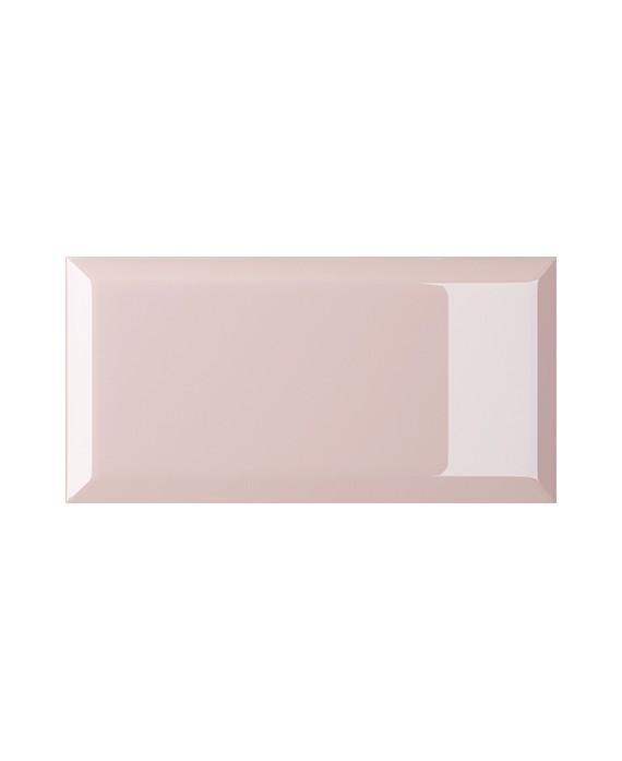 carrelage bisauté métro brillant rosa 10X20 cm