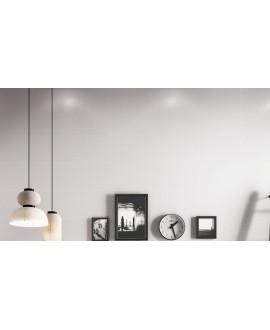 Carrelage decorwall blanc 25x75cm au mur