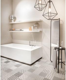 Carrelage moderne mural santametropaper 3d-03 25x75cm dans la salle de bains