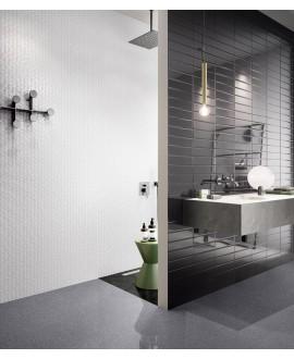 Carrelage salle de bain moderne mural santasolidbrick graphite 7.3x30cm