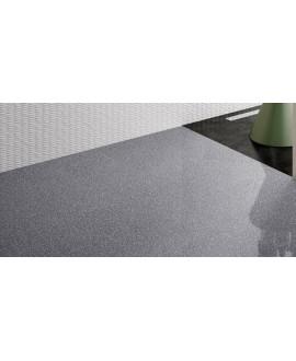 Carrelage imitation pierre 60x60cm rectifié, dotfloor graphite brillant au sol