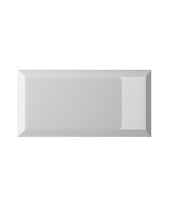 carrelage bisauté métro brillant argento 10X20 cm