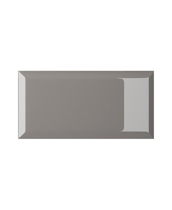carrelage bisauté métro brillant grigio 10X20 cm