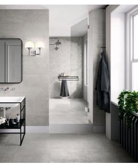 Carrelage, salle de bain, imitation métal argent 60x60cm, santoxydart silver.