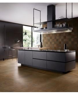 Carrelage imitation métal rouillé, cuivre, cuisine 90x90cm rectifié, santoxydart copper