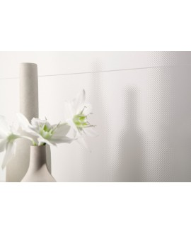 Carrelage dream blanc mat 25x75cm au mur
