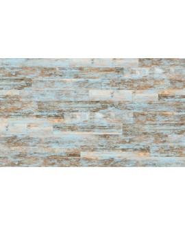 Carrelage imitation parquet bleu moderne, 14.4x89.3cm, V faro bleu