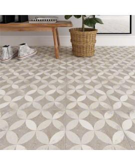 Carrelage imitation carreau de ciment gris 20x20cm, V Kerala gris