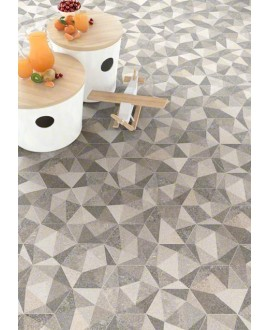 Carrelage hexagone gris Iimitation carreau ciment V luton multicolor 23x26.6 cm