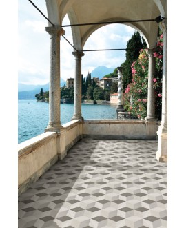 Carrelage hexagone domus decor7F effet carreau ciment 34.5x40cm