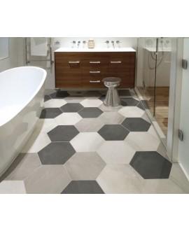 Carrelage salle de bain hexagonal domus sabbia effet carreau ciment 34.5x40cm