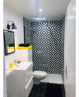 carrelage salle de bain imitation carreau de ciment noir 20x20cm V Goroka noir