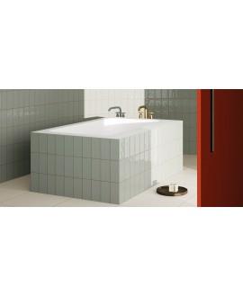Carrelage salle de bain materia brillant mastic 10X20cm