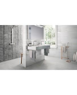 Carrelage imitation marbre gris brillant métro 25x75cm,  cultbardiglio