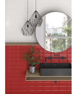 Carrelage métro V mugat rouge brillant 10X20 cm