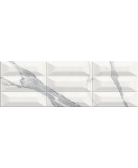 Carrelage imitation marbre métro 25x75cm, cultstatuario brillant