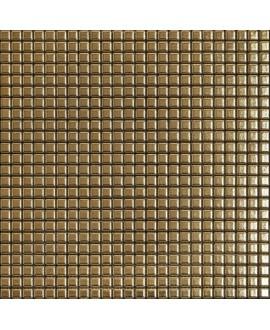 Mosaique metallique oro sur trame 30x30cm