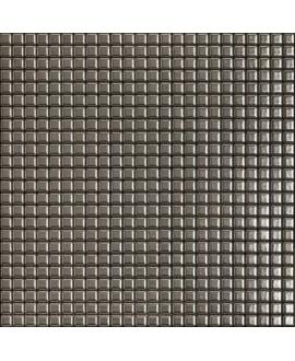 Mosaique metallique platine sur trame 30x30cm
