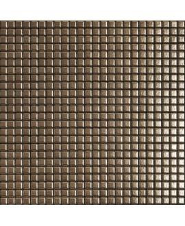 Mosaique metallique bronze sur trame 30x30cm