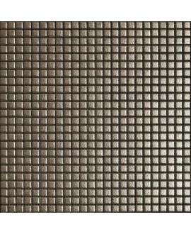 Mosaique metallique pirite sur trame 30x30cm