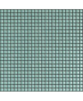 Mosaique brillant apdiva aquamarine 1.2x1.2cm sur trame 30x30cm