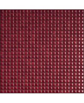 Mosaique brillant apdiva burgundi 1.2x1.2cm sur trame 30x30cm