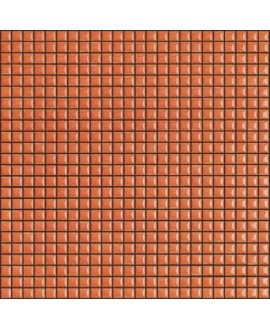Mosaique brillant apdiva orange 1.2x1.2cm sur trame 30x30cm