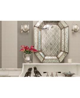 Mosaique brillant apdiva taupe, et mat avorio