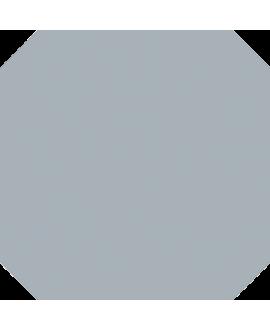 Carrelage V octogone cabaret anthracite mat 20x20cm avec cabochon 4x4cm