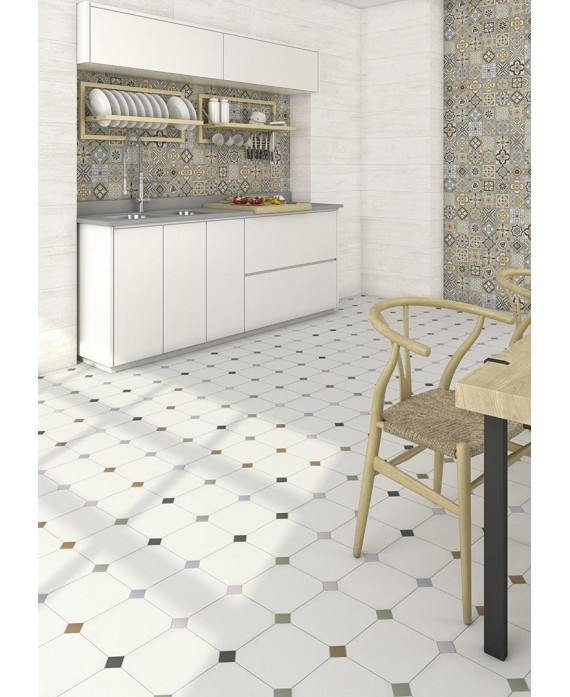 carrelage v octogone cabaret nacar mat 20x20cm avec. Black Bedroom Furniture Sets. Home Design Ideas
