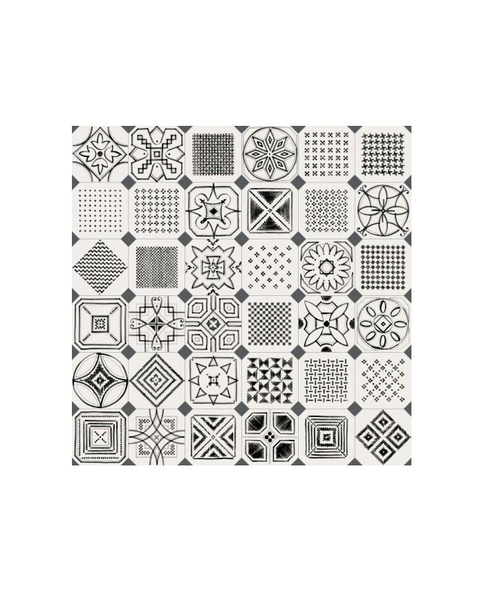carrelage v octogone variette sombra 20x20cm avec cabochon. Black Bedroom Furniture Sets. Home Design Ideas