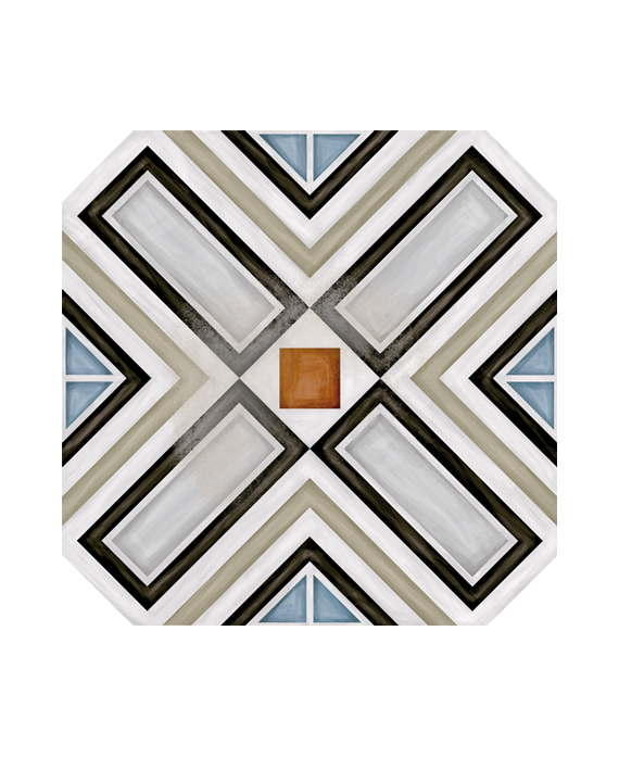 carrelage v octogone ritter multicolor 20x20cm avec. Black Bedroom Furniture Sets. Home Design Ideas