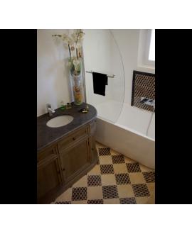 damier decor portofino 20x20x1.2 cm et travertin classic 20x20x1.2cm