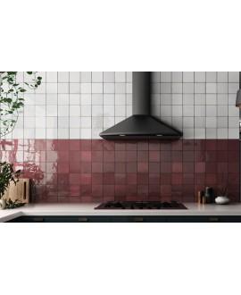 Carrelage salle de bain cuisine Effet Zellige A rouge brillant 13.2x13.2cm
