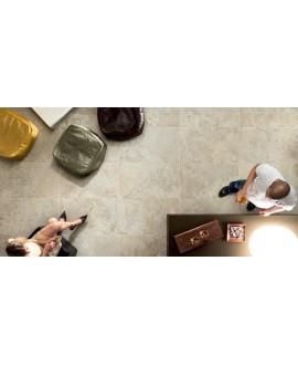 Carrelage imitation pierre ancienne beige 45,3x75,8cm, ediminstone bone, antidérapant: R10 A+B