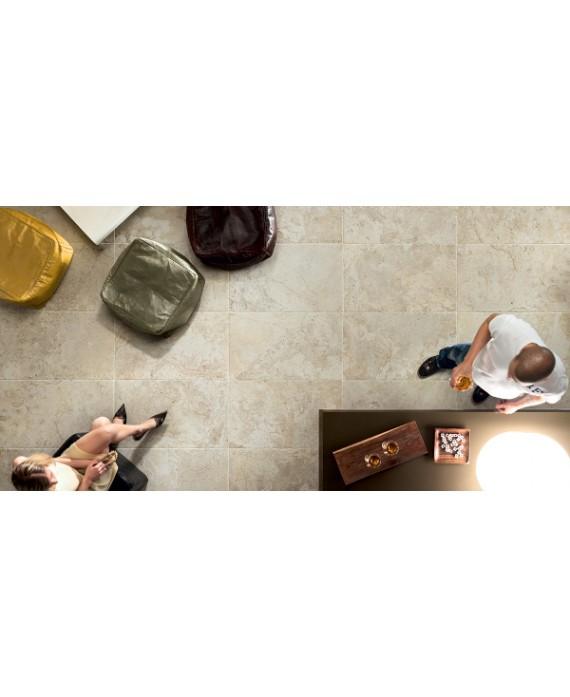 Carrelage imitation pierre ancienne beige 45,3x75,8cm, ediminstone bone mat