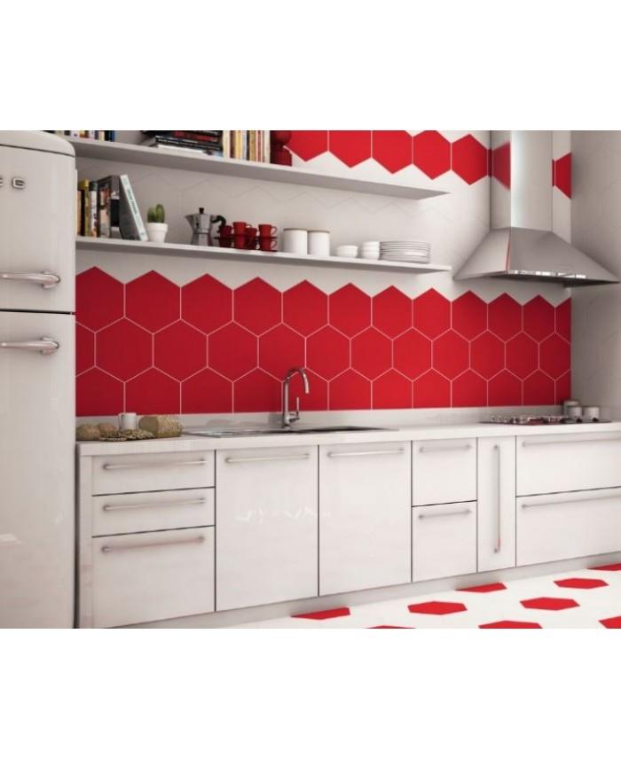 carrelage hexagone tomette realopal rouge. Black Bedroom Furniture Sets. Home Design Ideas
