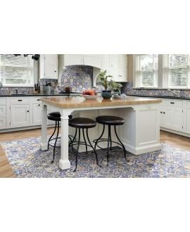 Carrelage sol cuisine effet carreau ciment, patchwork décor 44x44cm realmendes