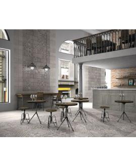 Carrelage  effet carreau ciment, sol et mur cuisine 44x44cm realskyros décor gris